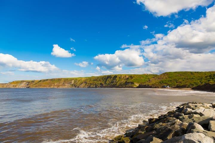 Runswick Bay during the day