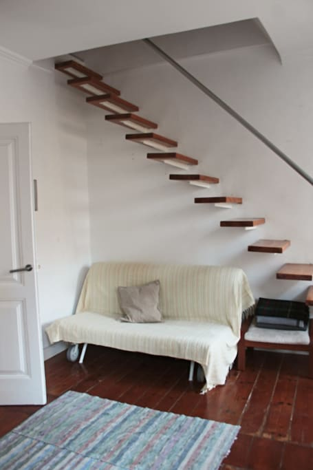 Sofa and stairs