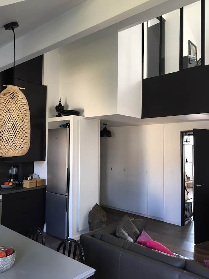 Loft 78 m2 à Fontenay aux Roses, dernier étage