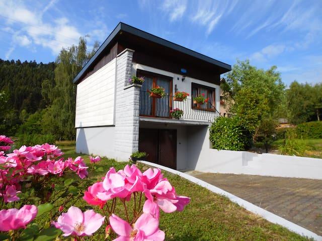Haus in Elsass neben den Vosges