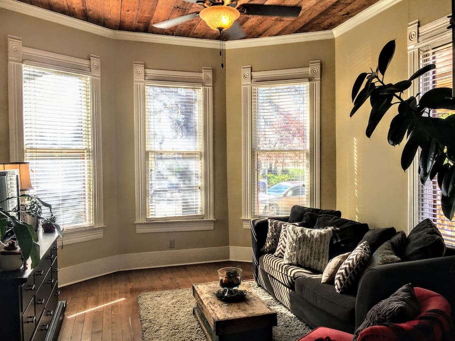 Enjoy a Book next to the Beautiful Bay Windows with LOTS of light.