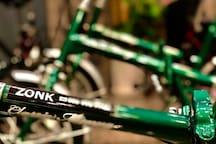 レンタサイクル始めました!無料ですので、ご予約の上、是非ご利用ください。/Bicycle rental started! It is free of charge, so please use it after making a reservation./免費借自行車。/자전거를 무료로 빌려줄게요.