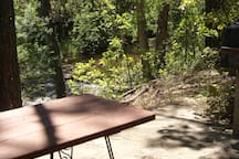 Picnic table on property
