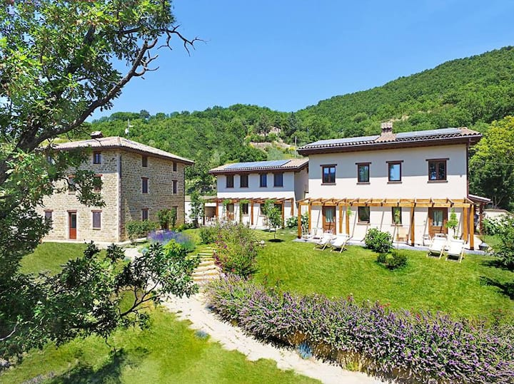 Incantico – luxury villa with park and waterfall.