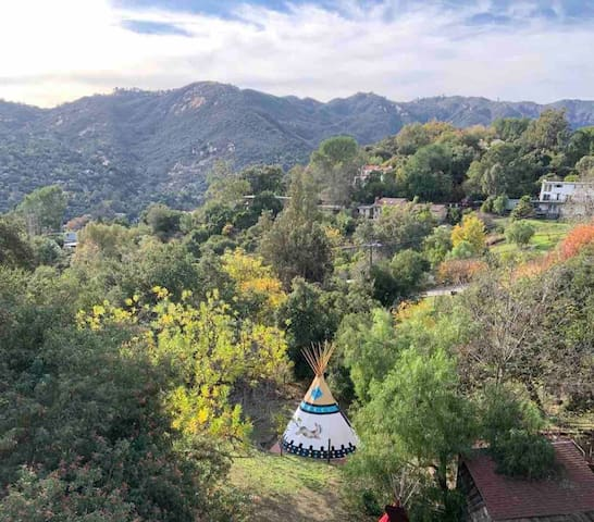 Go Glamping In An Authentic Tipi in Topanga