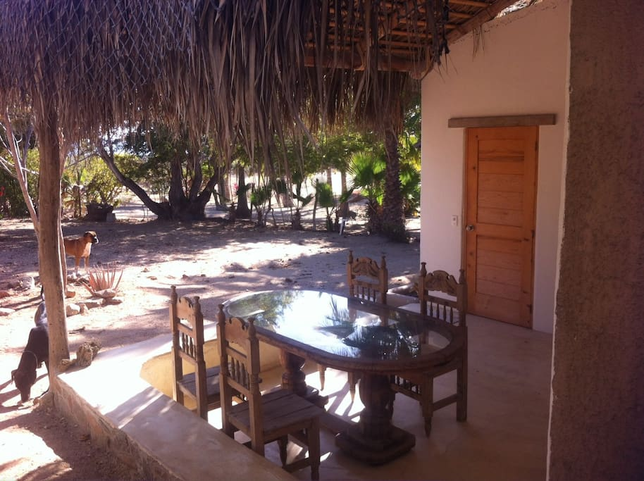 Outside dinning area