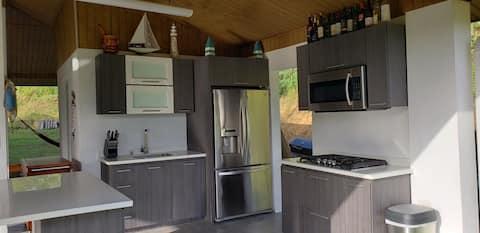 Gazebo forActivities/Camping/Retreat next to River