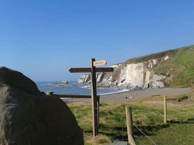 Ayrmer Cove - a lovely walk along the Coast Path