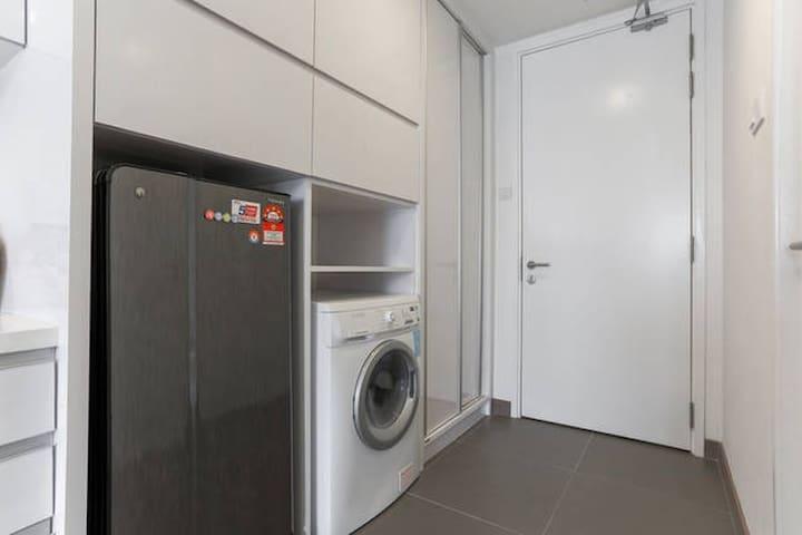Washer, dryer and fridge
