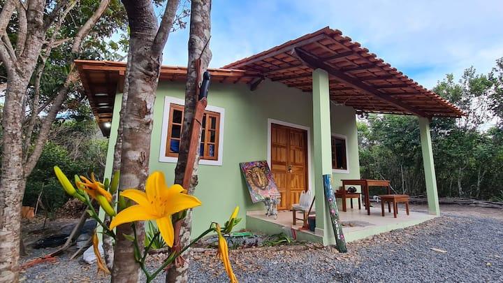 Casa no Vale do Capão no caminho para Águas Claras
