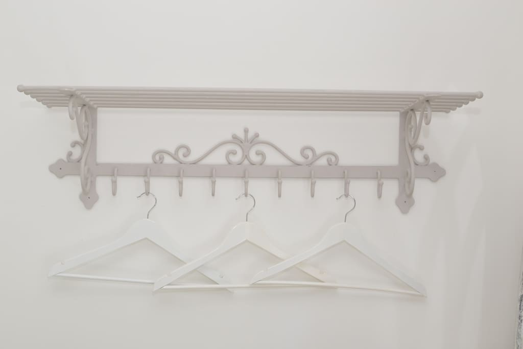 This french piece adds storeage & hanging space for your clothes.