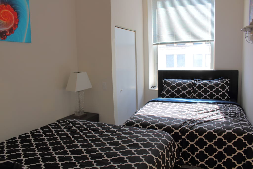 First bedroom offers two queen beds!