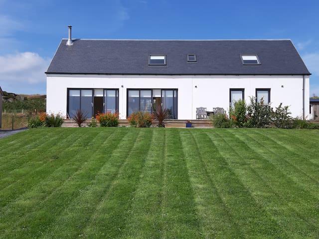Modern home with sea views near Port Ellen