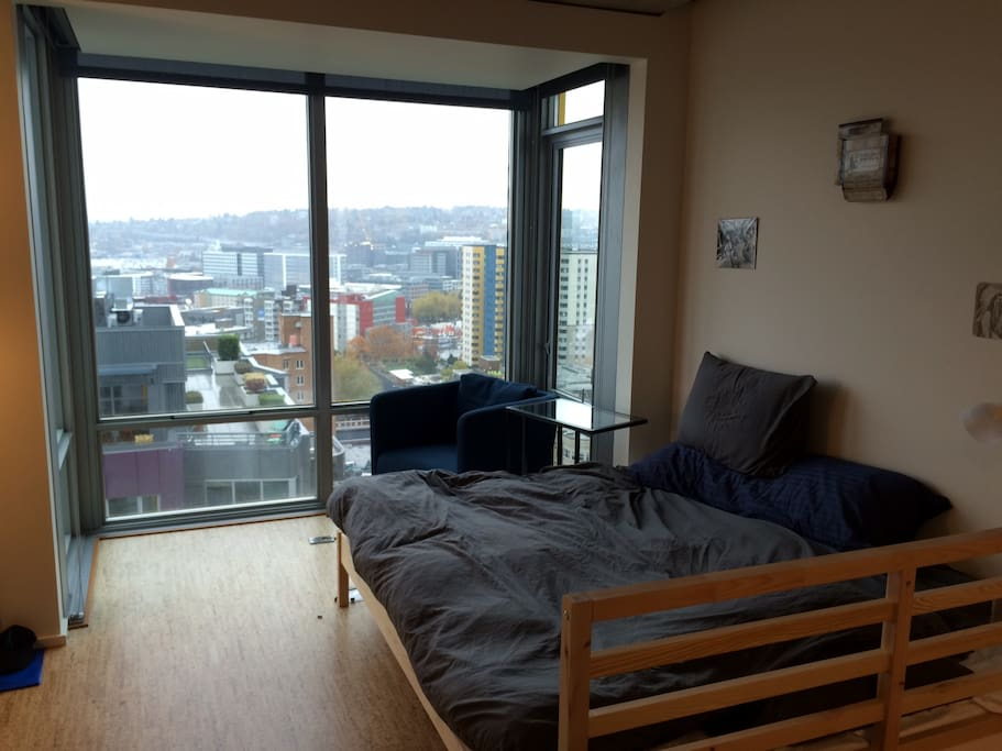 Memory Foam Bed and view