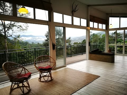 Borneo Orchard House with gorgeous valley views