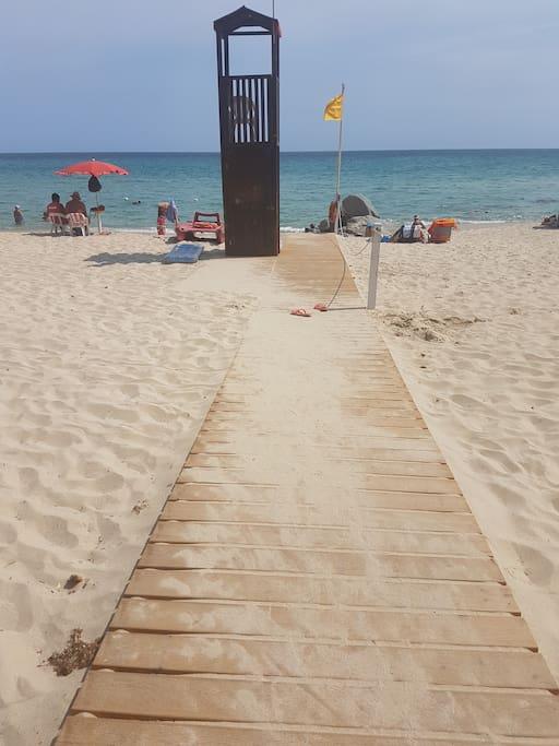 accesso spiaggia privata residence Free Beach