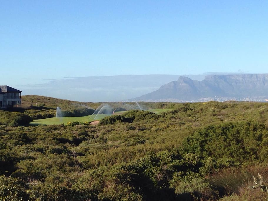 Tranquility on South Africa's best golf estate with Table mountain in the back ground