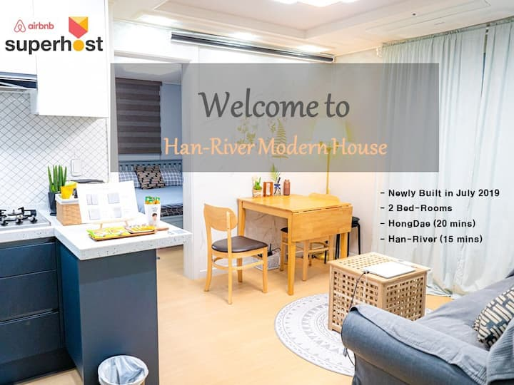 ♥ 2019.7 Built 2 Room ♥ Clean&Quiet. Seoul/Hongdae