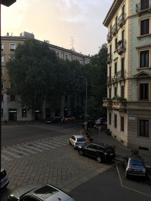 View from Apartment - cross between Via Petrarca and Via Vincenzo Monti