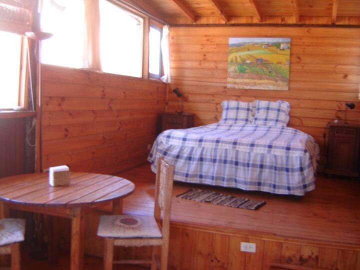 Cabaña para 2 Personas, bonita y muy tranquilo