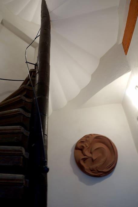 Historischer Treppenturm von 1718