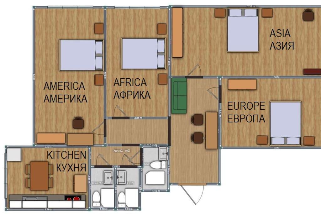Apartment Plan / Планировка квартиры