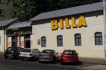 "The nearest supermarket ""Billa"" in Belehradska street - 3 minutes walk from our apartment"