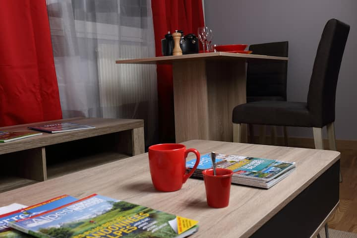 Le cosy : agréable studio pratique proche Genève