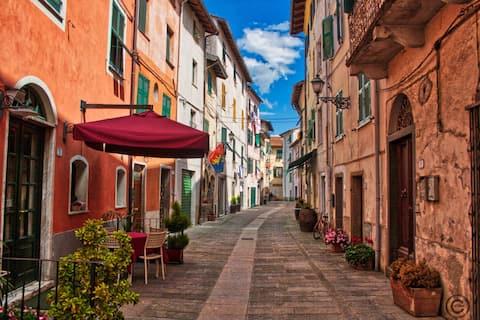 Perto de 5terre  em uma pacífica aldeia da Ligúria
