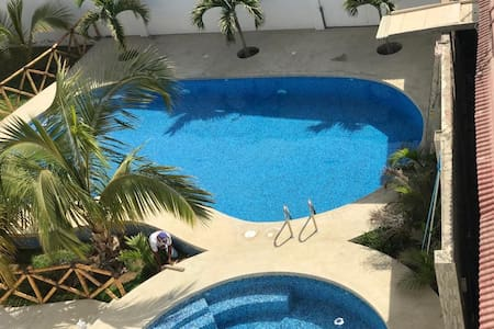Furnished Private Apartment with Pool near Beach