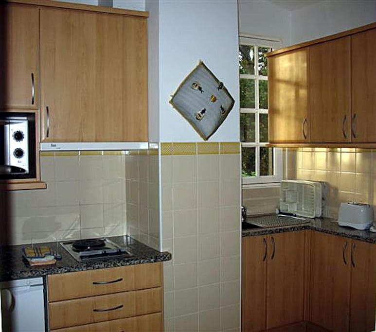 Separate well-equipped kitchen.