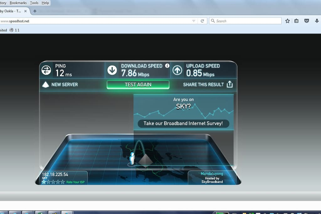 Up to 8mbps internet speed