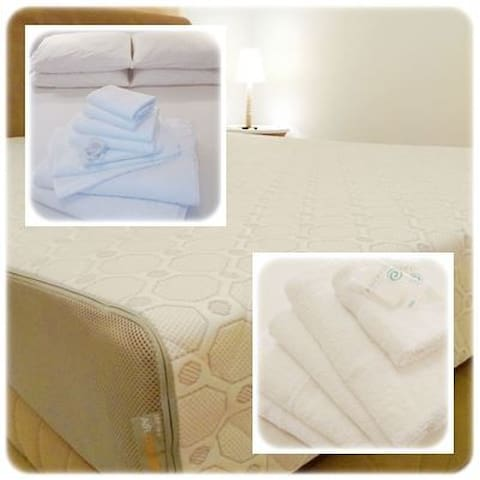 Comfort mattresses and High quality bed linen and towels 100% cotton