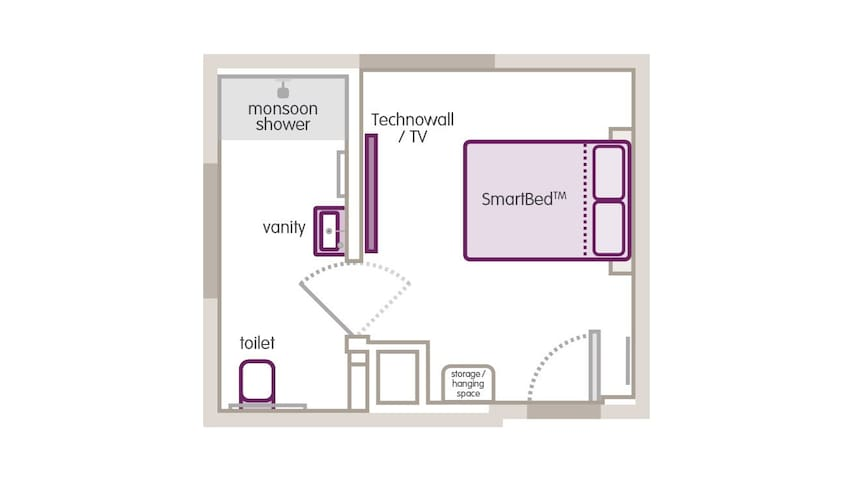 The floor plan for this room.