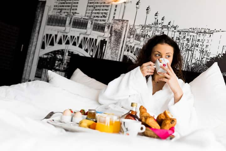 2 lits simples dans hôtel 4 étoiles au quartier des Carmes Toulouse