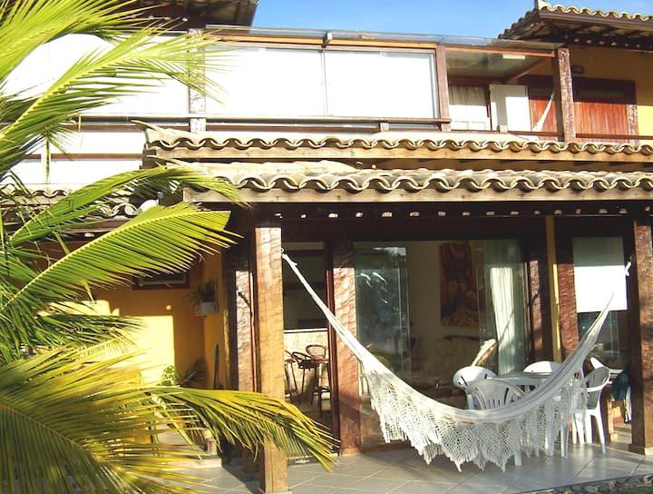 Casa a 150 m praia de Geribá condominio em Búzios.