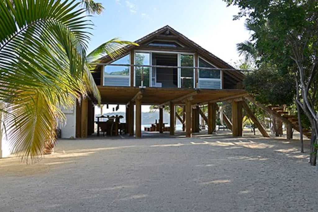 The Loft at the Beach in St. Barth, FWI - Lorient Beach-front ocean-view Caribbean vacation home