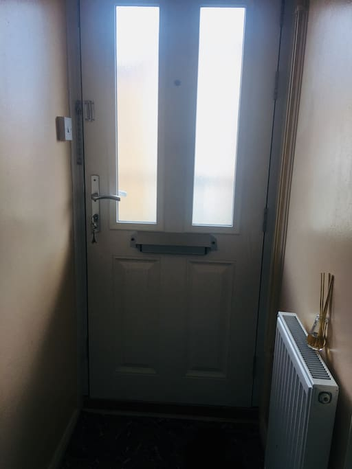 A private front door