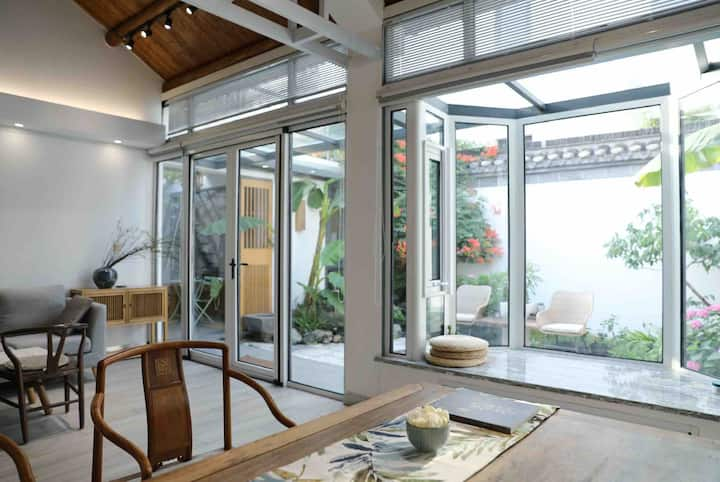 【又生欢喜·尔雅】瘦西湖畔 | 独立景观美学系列民宿|『一条』最美庭院|ELLEDECO收录