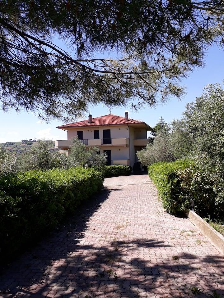 Beautiful villa in Pineto with sea view
