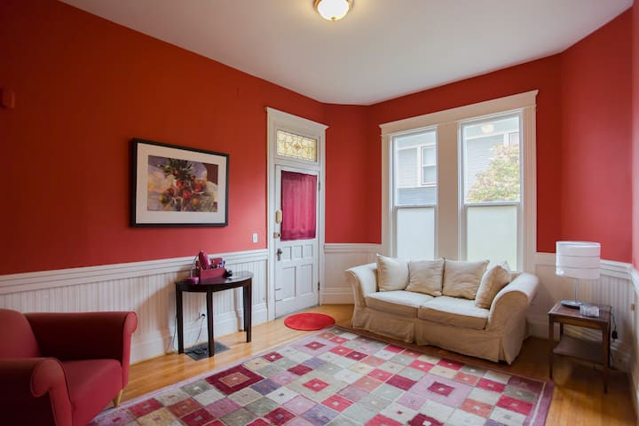 Victorian charm with modern conveniences sleeps 6!