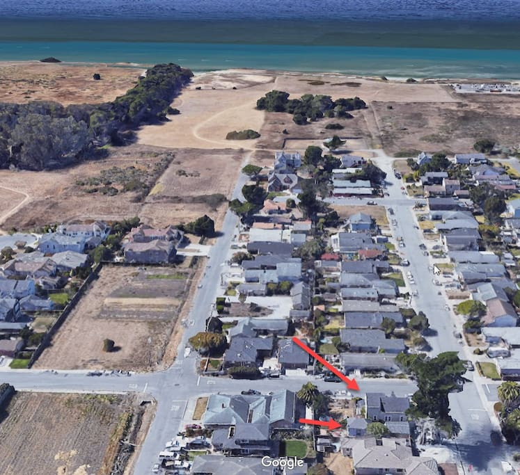 Location of our property as it relates to open space and beach