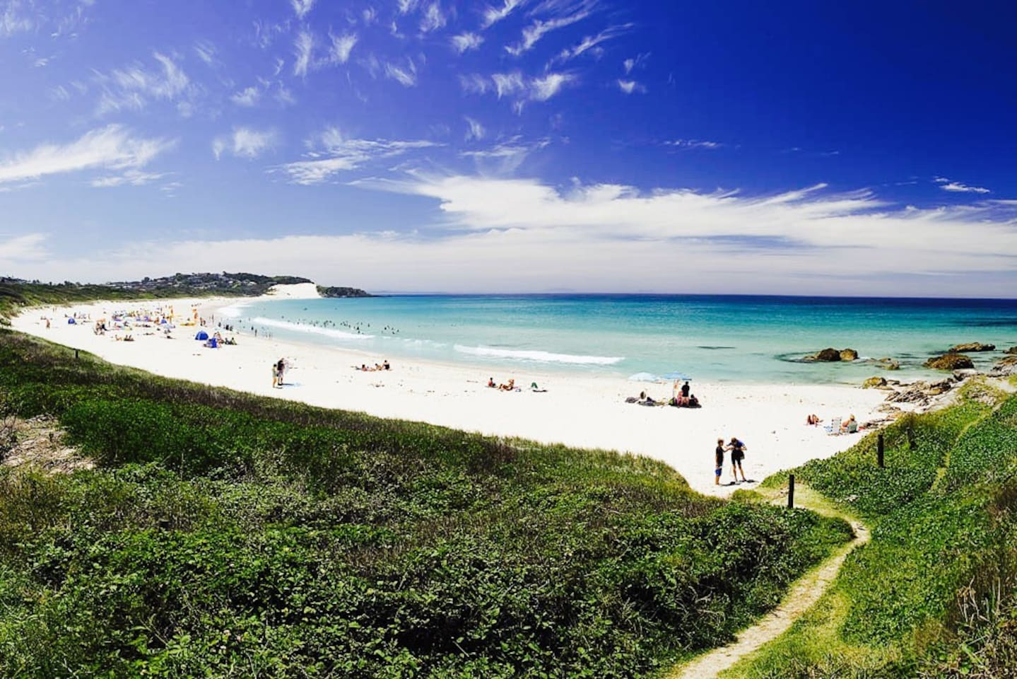 3 minute walk to this beach