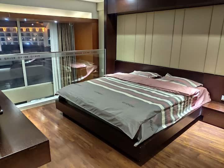 【雪域民宿叁号】崇礼区万龙滑雪场路口复式公寓