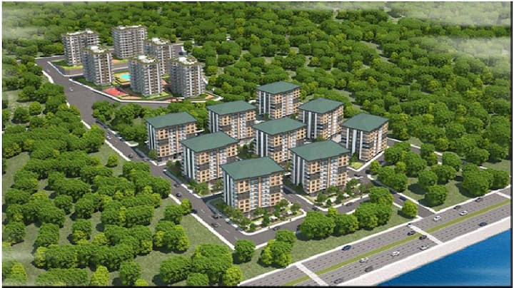 new house inside complex-Trabzon. only yearly rent