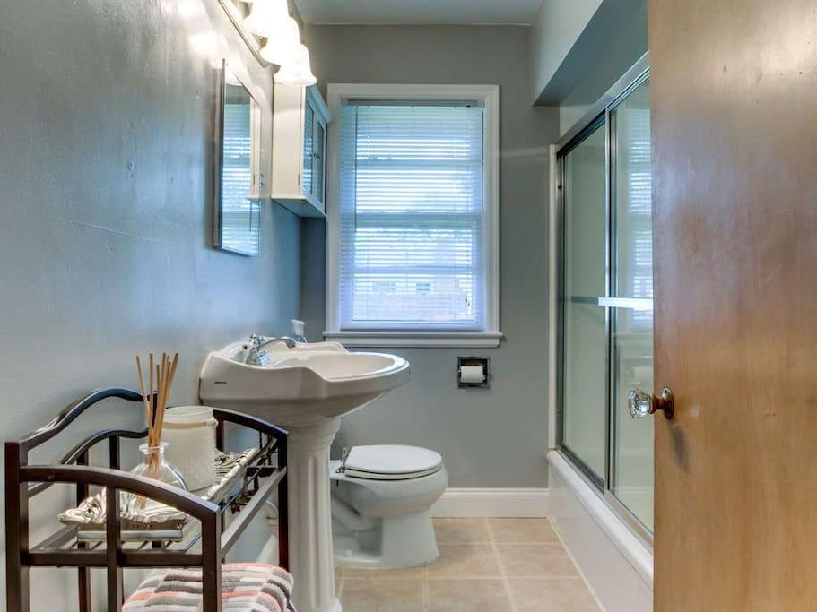 Bathroom - Updated sink and door since picture