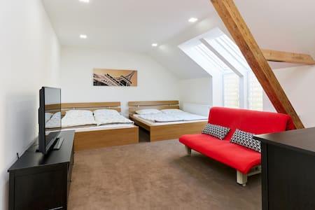 Pokoj se dvěma manželskými postelemi