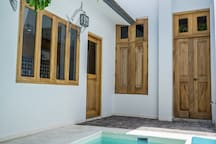 Patio con alberca privada / backyard with private pool
