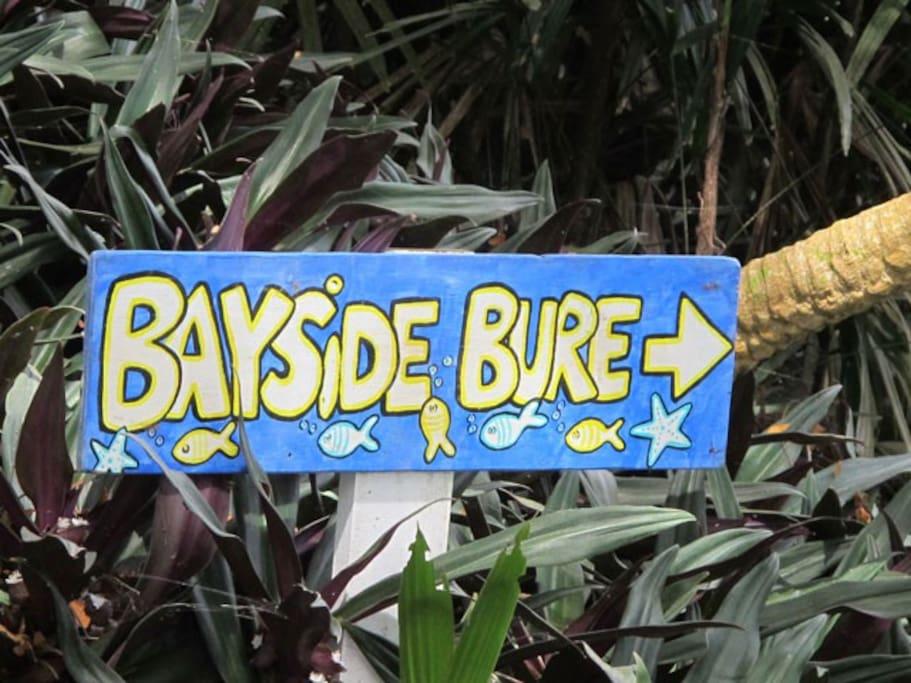 Bayside Bure sign