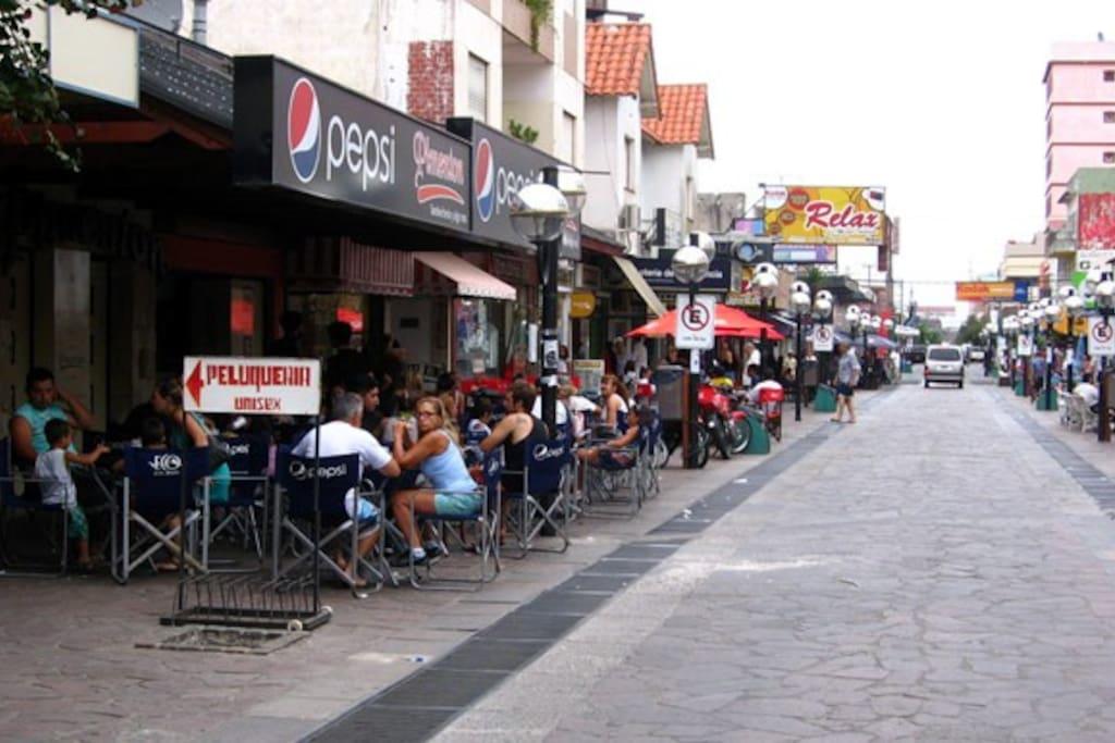 Peatonal centrica donde disfrutar de variados negocios de gastronomia, regalos, ropa, y el casino.